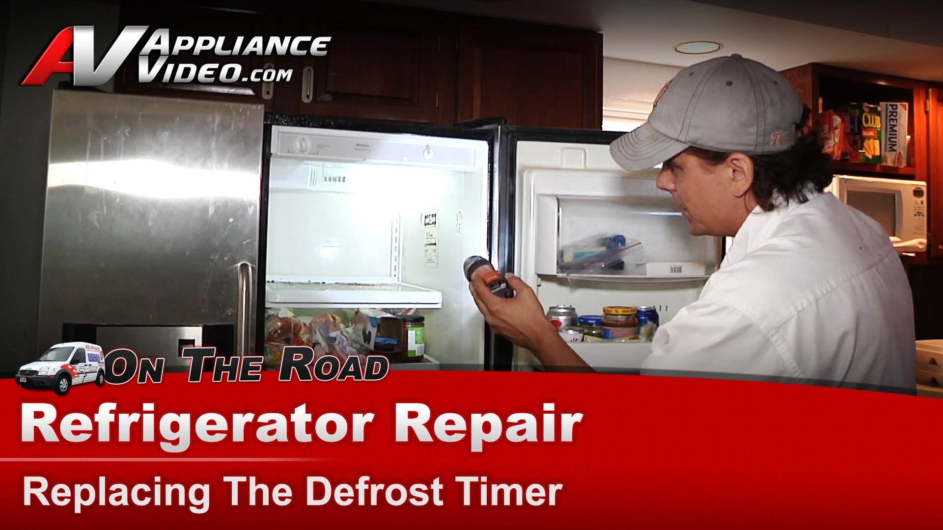 Frigidaire FRS24WSCB1 Refrigerator Repair  Replacing the defrost timer  Timer  Appliance Video
