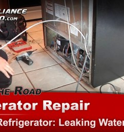 kenmore 106535900 refrigerator diagnostic and repair leaking water drain tube appliance video [ 1920 x 1080 Pixel ]