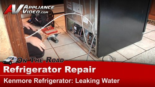 small resolution of kenmore 106535900 refrigerator diagnostic and repair leaking water drain tube appliance video