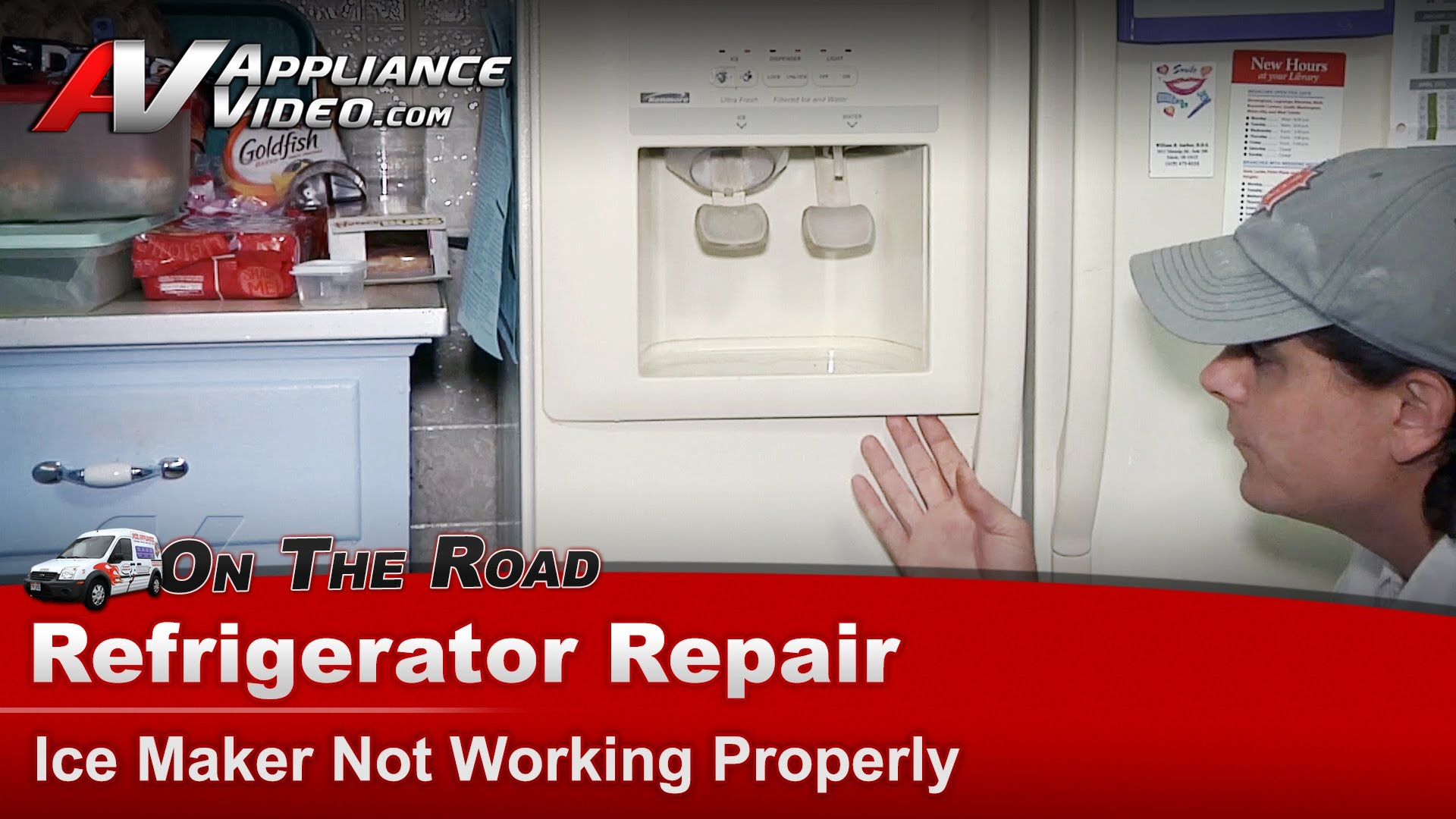hight resolution of kenmore 10659597990 refrigerator repair ice maker not working bracket