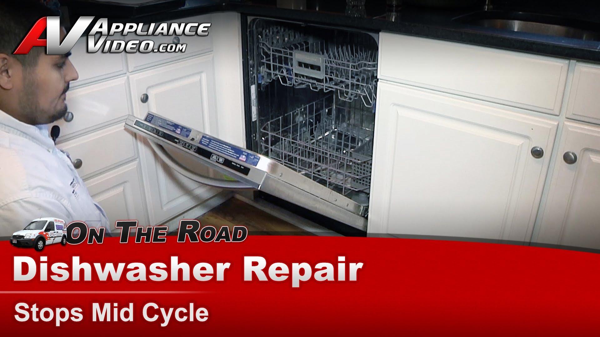 kitchen aid dishwasher repair ikea kitchens reviews kitchenaid kudc10fxss3  stops mid cycle