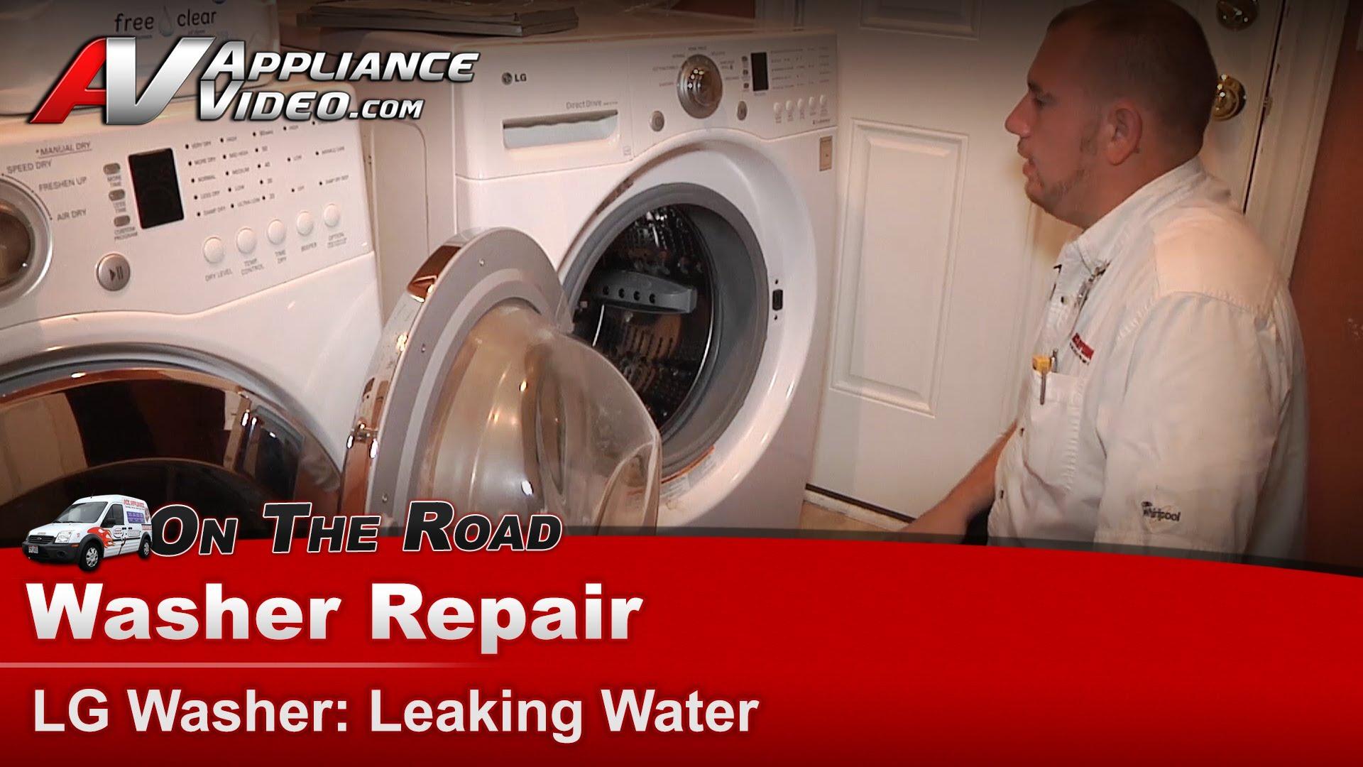 LG WM2101HW Washer Repair  Leaking water  Gasket