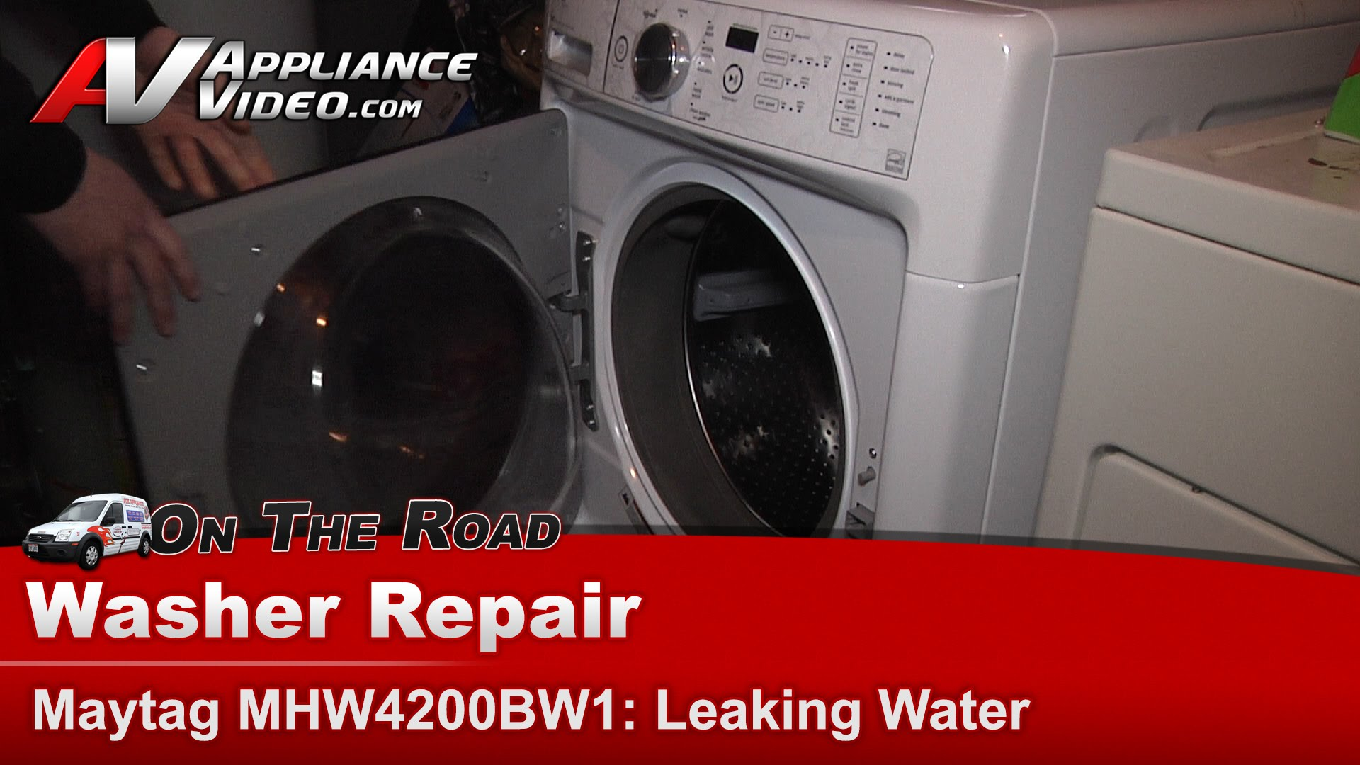 Maytag MHW4200BW1 Washer  Leaking water  Appliance Video