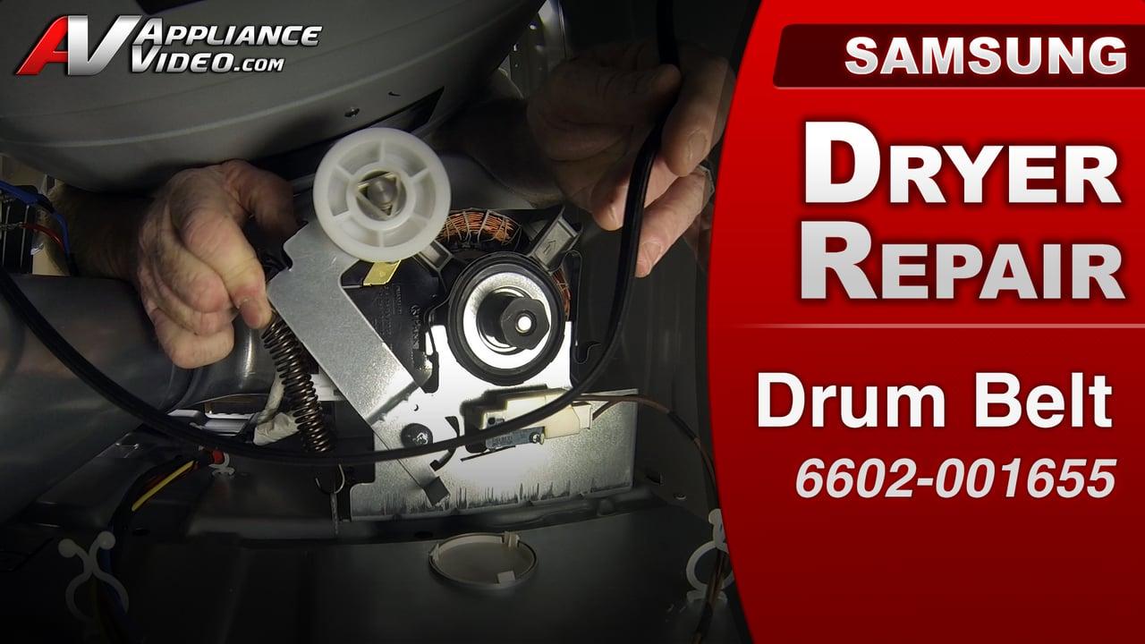 Samsung DV422EWHDWR Dryer  Not spinning  Drum Belt