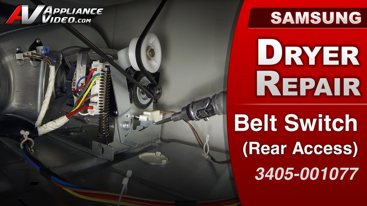 Samsung DV422EWHDWR Dryer  Will not tumble  Belt Switch