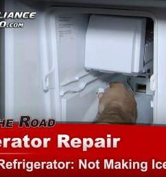 whirlpool gz25fsrxyy5 refrigerator repair not making ice ice maker appliance video [ 1920 x 1080 Pixel ]