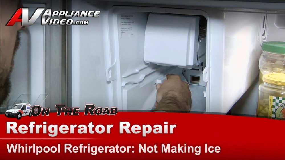 medium resolution of whirlpool gz25fsrxyy5 refrigerator repair not making ice ice maker appliance video