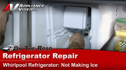 small resolution of whirlpool gz25fsrxyy5 refrigerator repair not making ice ice maker appliance video