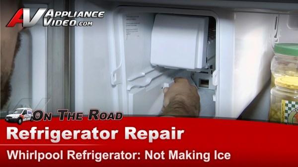 Whirlpool Gz25fsrxyy5 Refrigerator Repair Making Ice