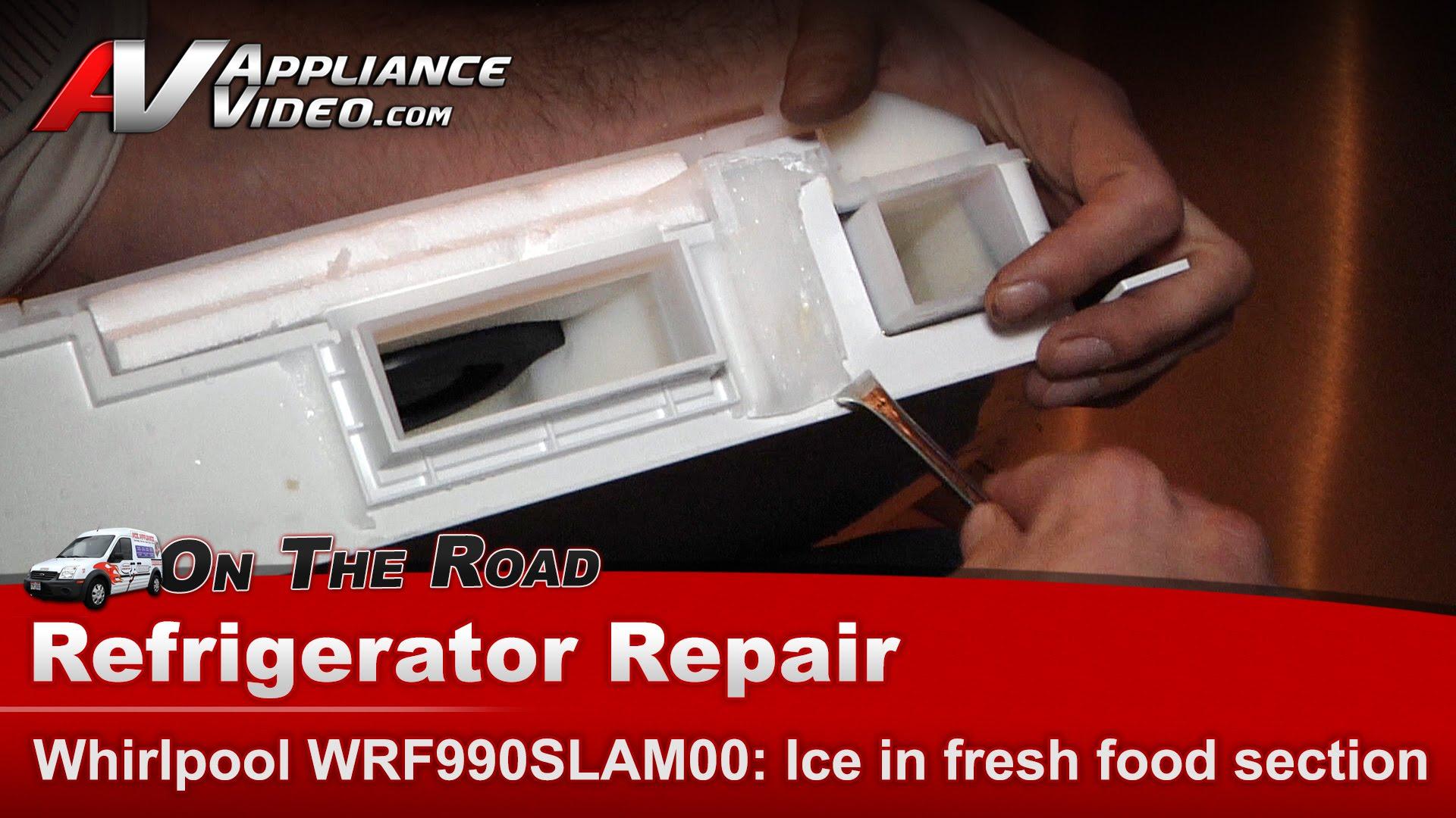 Whirlpool Refrigerator  Heater Fix Kit W10628737  Ice maker leaking on back wall  Appliance Video