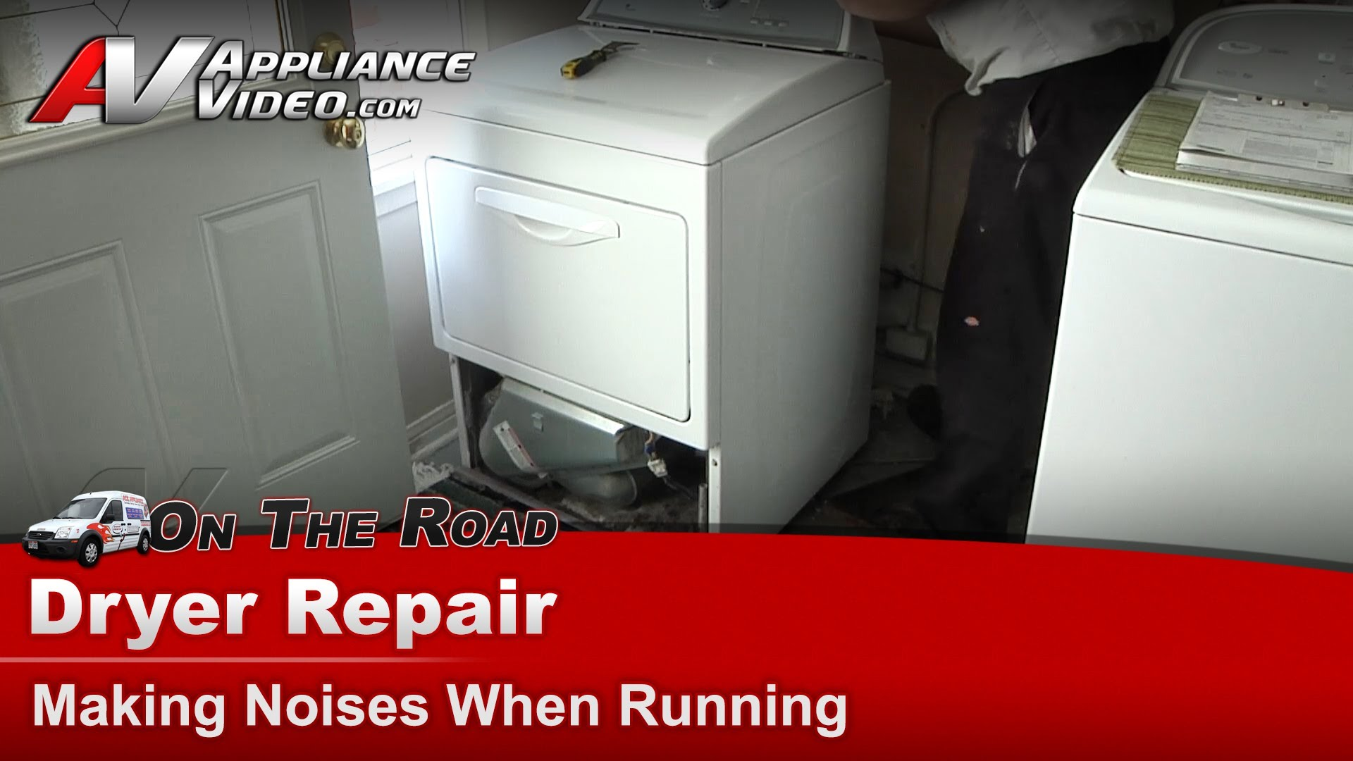 Whirlpool WED5500XW0 Dryer Repair  Making noises when running  Idler Pulley  Appliance Video