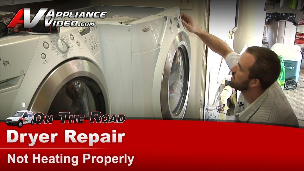 medium resolution of whirlpool wed9400sw0 dryer diagnostic and repair not heating properly heating element appliance video
