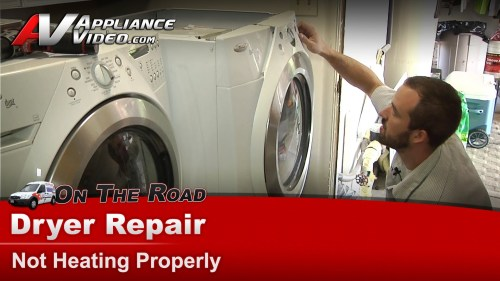 small resolution of whirlpool wed9400sw0 dryer diagnostic and repair not heating properly heating element appliance video