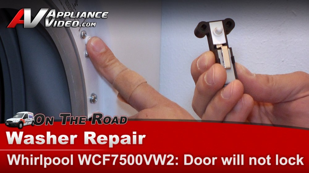 medium resolution of whirlpool wfc7500vw2 washer diagnostic repair door will not lock will not cycle