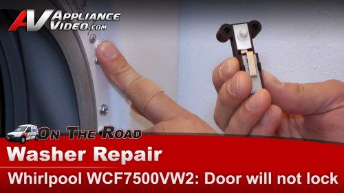 small resolution of whirlpool wfc7500vw2 washer diagnostic repair door will not lock will not cycle