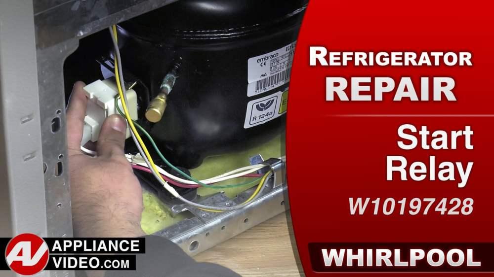 medium resolution of whirlpool wrs322fdam refrigerator compressor will not run start relay