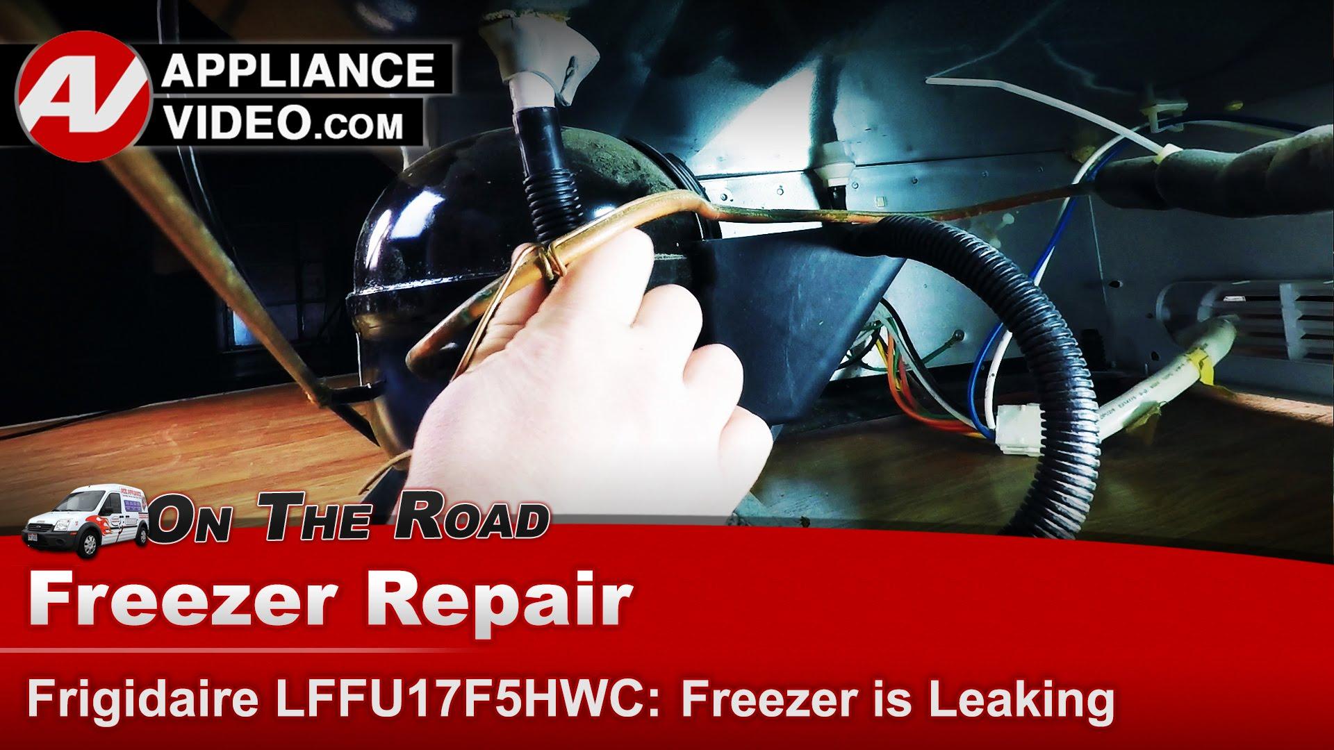 Frigidaire Freezer  Leaking water  LFFU17F5HWC  Drain Pan  Appliance Video