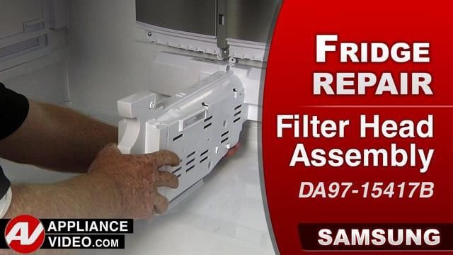 Samsung RF22K9581SR Refrigerator  Water leaking  Filter Head Assembly  Appliance Video