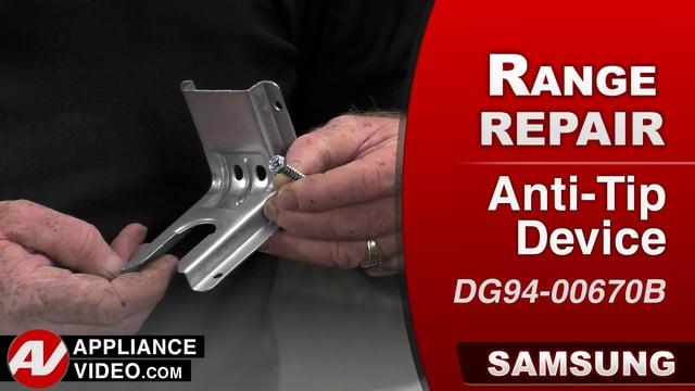 Samsung NX58J5600SG Stove  Prevent range from falling