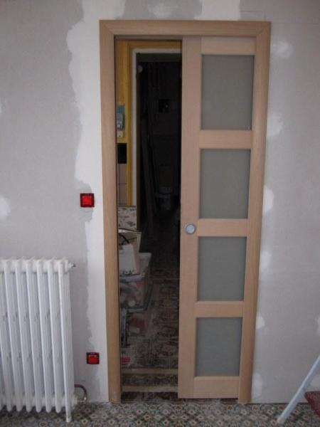 Porte en bois  galandage  Rnovation Porte intrieure