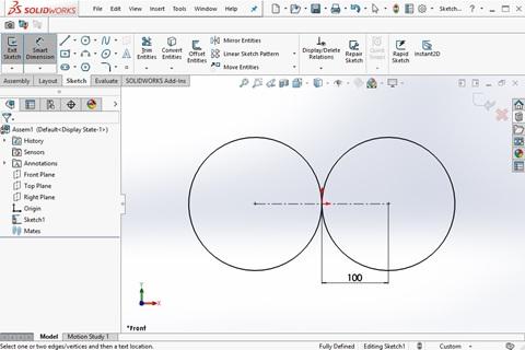 ออกแบบเกียร์ง่ายๆ ด้วยชุดคำสั่ง Create Spur Gear and Mate