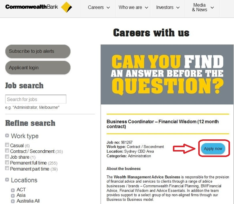 How To Apply For Commonwealth Bank Jobs Online At Commbank Com Au Careers