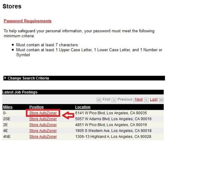 Job Application For Autozone | Free Resume Samples & Writing