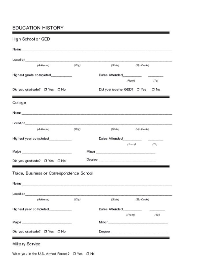 Free Printable Holiday Inn Job Application Form Page 3