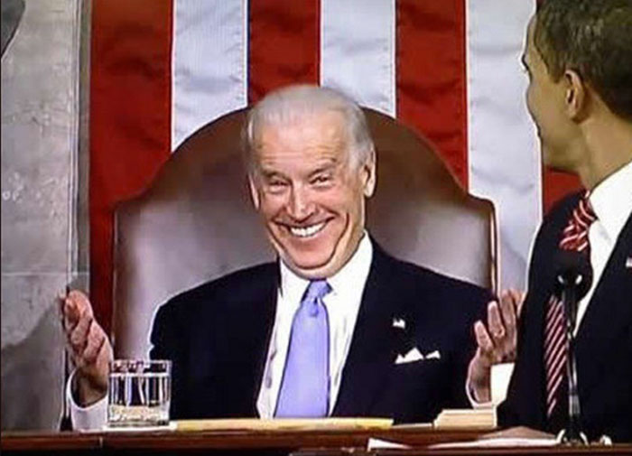 Joe Biden looking creepy