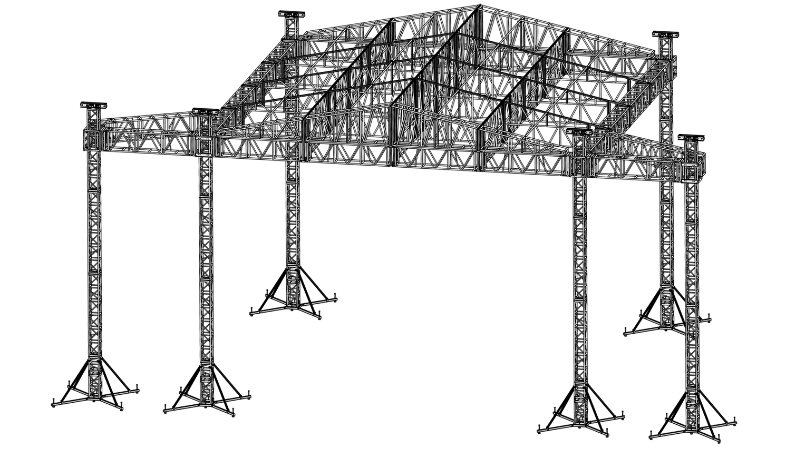 45×45 Peaked Ladder Roof » Applied Electronics
