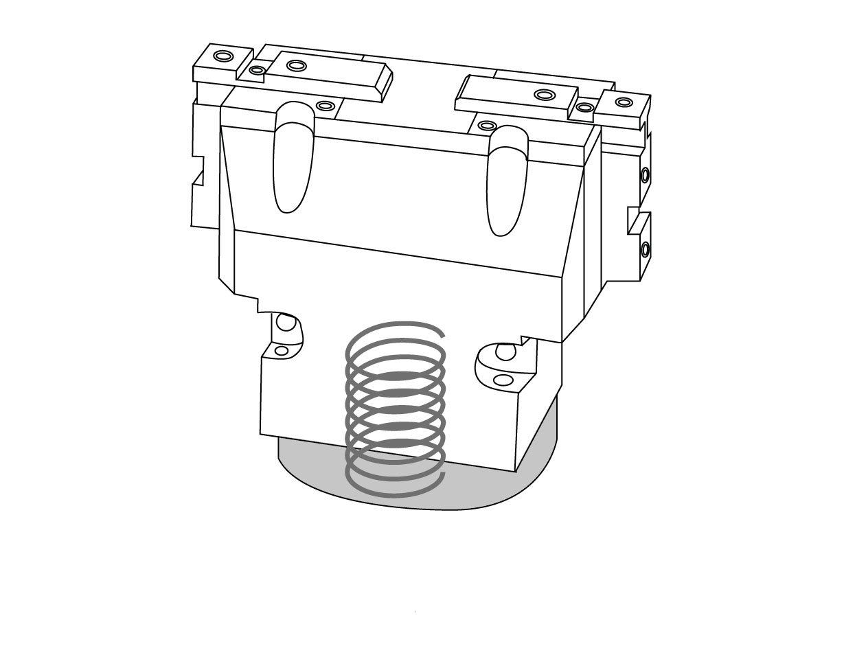 Molla di sicurezza pinze pneumatiche Pneumatic grippers safety spring