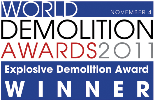 World Demolition Awards 2011 – Fabio Bruno Construçoes wins the Explosive Demolition Award