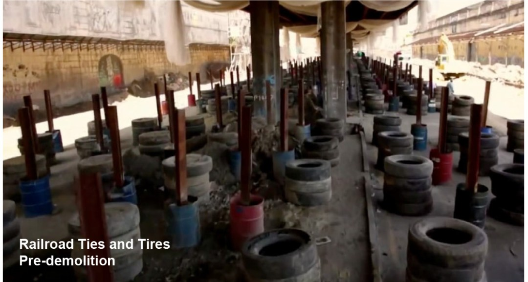 Structural Demolition - Railroad Ties and Tires Pre-demolition - Applied Science International