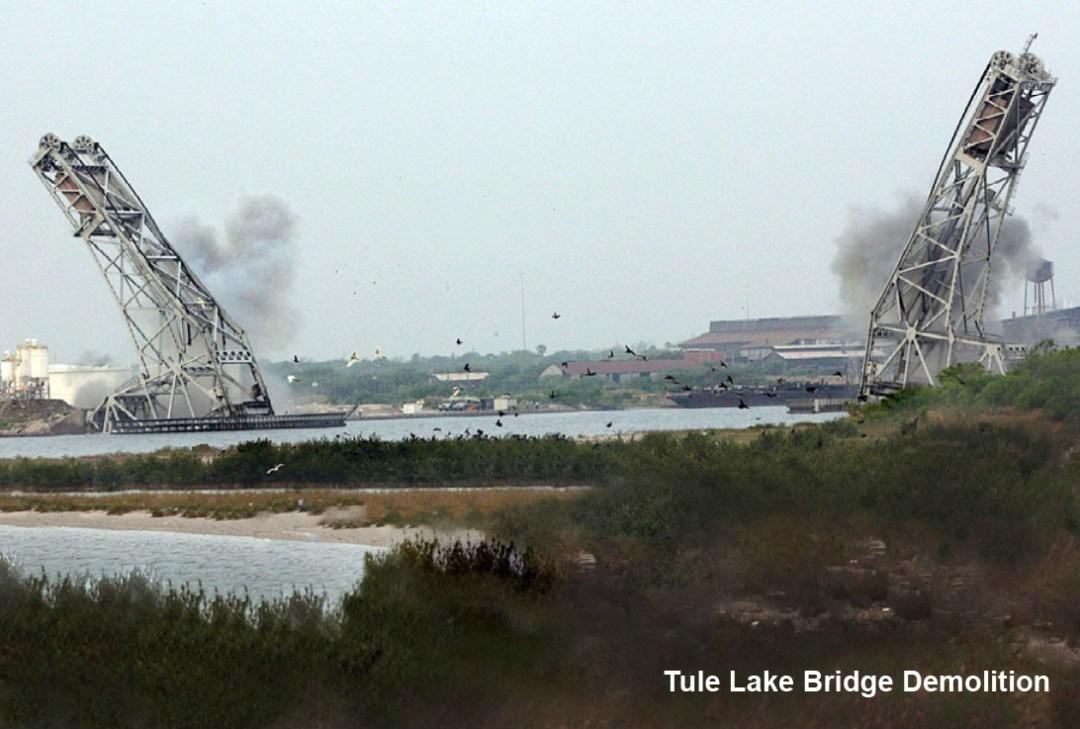 Demolition Design - Tule Lake Lift Bridge Implosion of Two Towers - Applied Science International