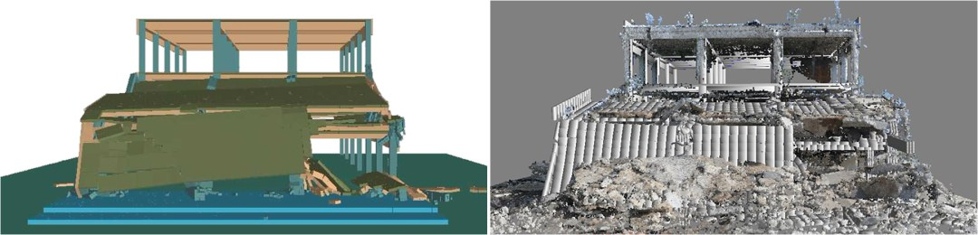 Structural Analysis - ELS Results Compaired to 3D Laser Scan of Site After Demolition - Applied Science