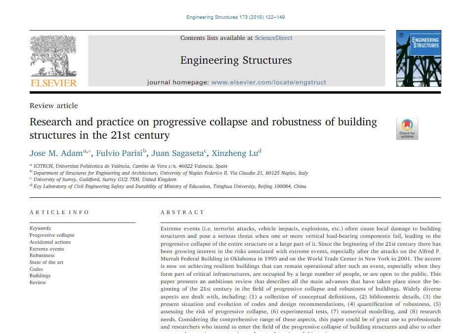 Research & Practice on Progressive Collapse & Robustness of Buildings