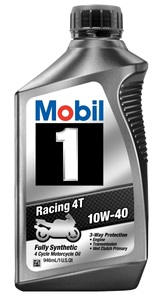 Mobil 1 Racing 4T 10W-40 fully synthetic