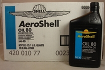 Aeroshell 80 Oil SAE J-1966-MIL-L-6082-1 Quart