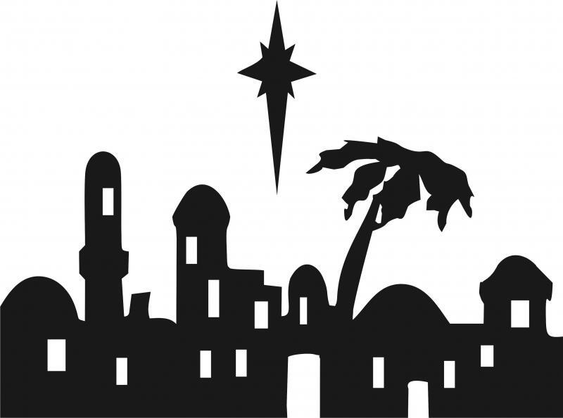 nativity - bethlehem skyline silhouette