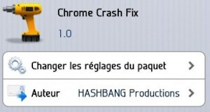 Chrome Crash Fix Cydia