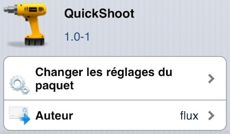 quickShoot Cydia
