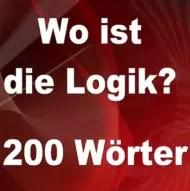 Wo ist die Logik 200 Wörter Lösungen und Antworten