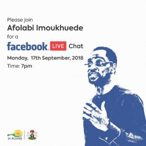 Mr. Afolabi Imoukhuede in N Power Facebook LIVE chat