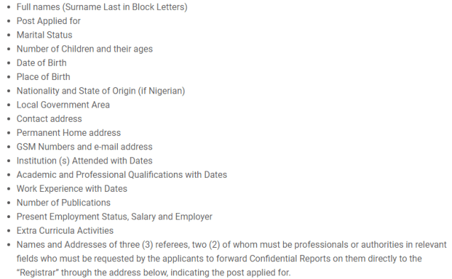 Kwara state university application procedure