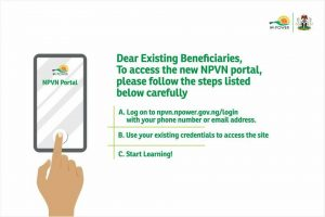 How to Login or Use NPower NPVN Portal gov ng