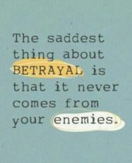 betrayal is not from enemies