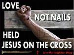 love held Jesus on cross