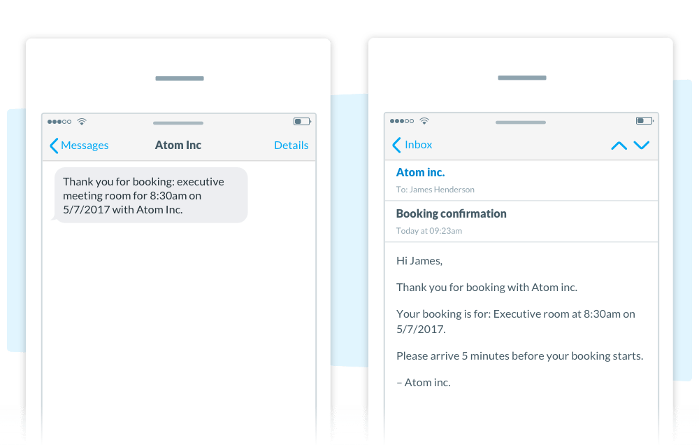 Automated SMS and Email Confirmation Appointedd