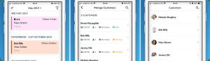 Mockup Online Booking System Mobile App Appointedd