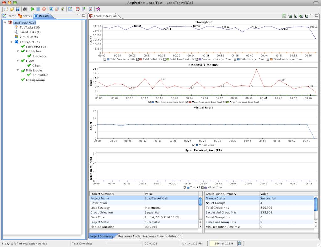 Load Testing Java Api Using Appperfect Load Test